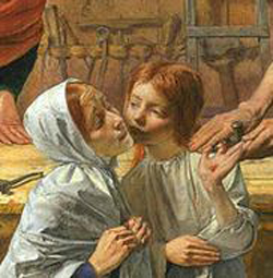 Christ in the House of His Parents (detail) by Millais