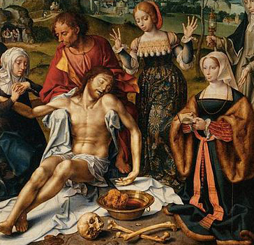 The Altarpiece of the Lamentation (detail) by Joos van Cleve