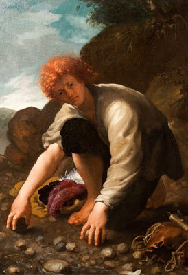The Young David Gathering Stones for his Slingshot - Domenico Fetti